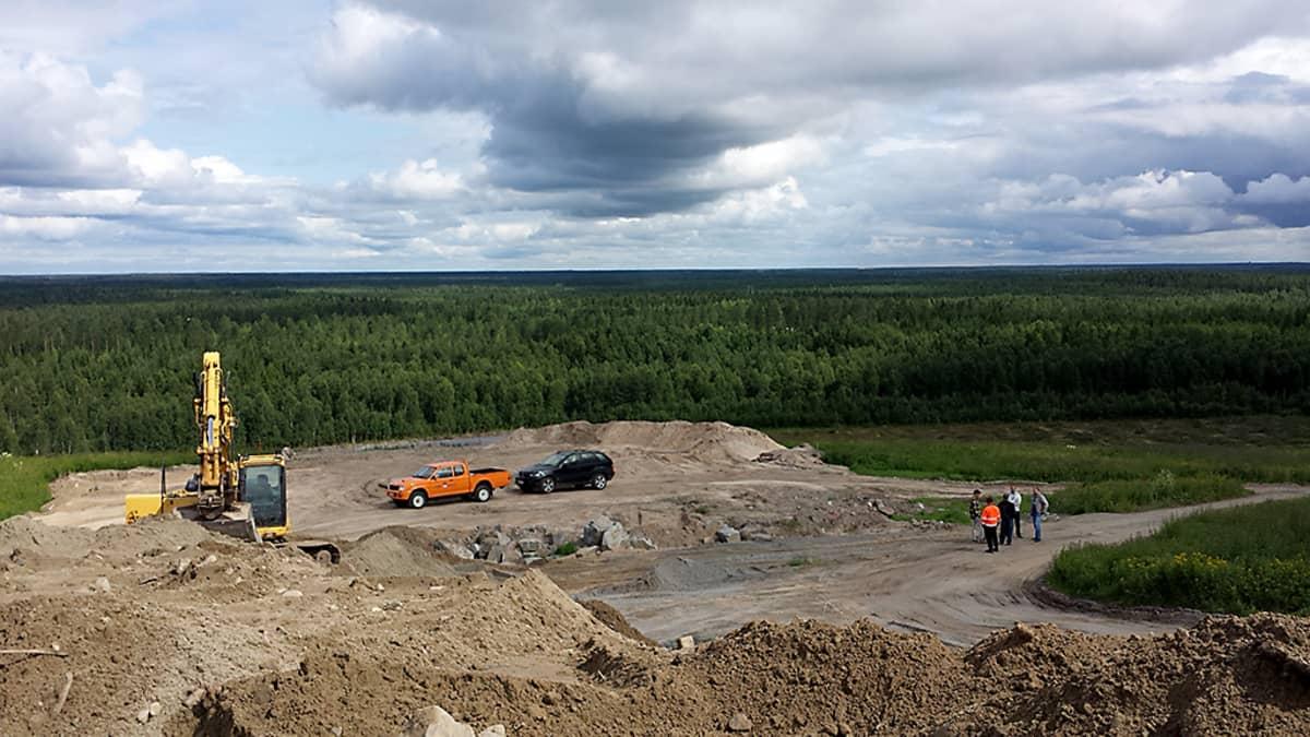 Näkymä Oulun Ruskotunturin laelta