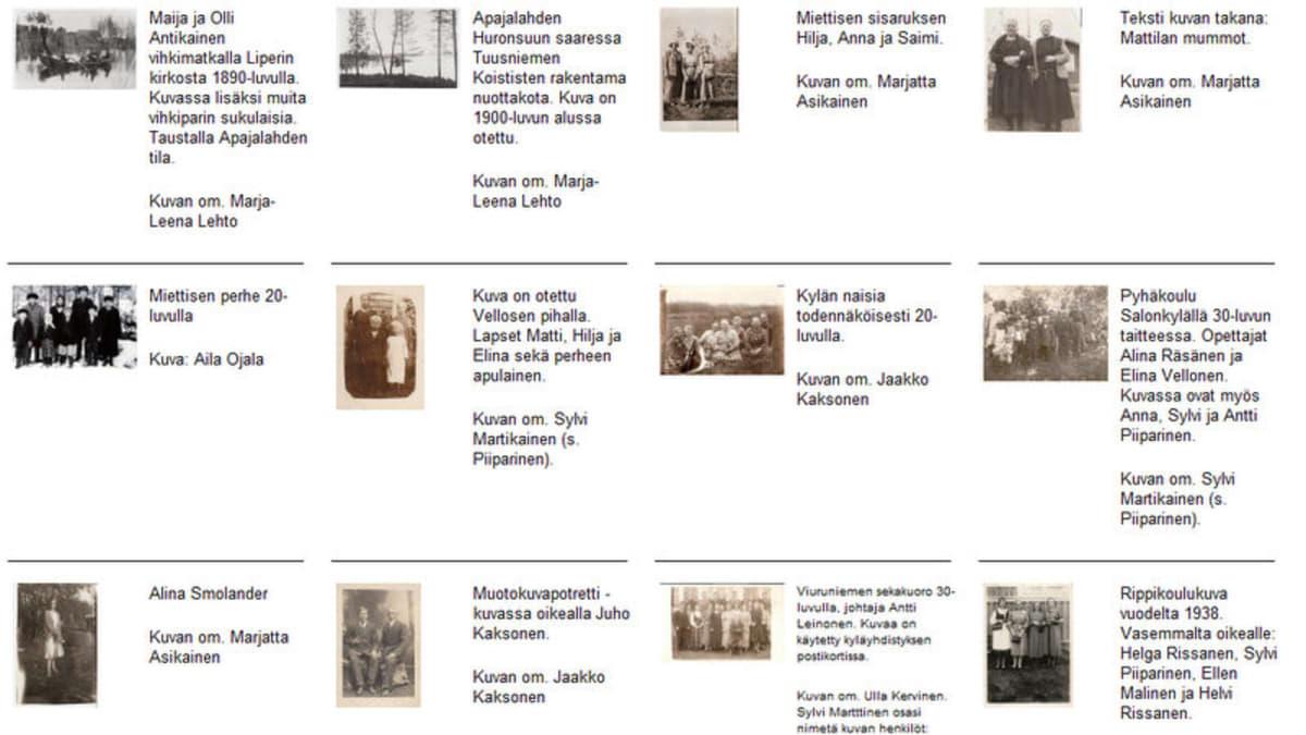Viuruniemen kyläyhdistys kokoaa kylänsä historiaa nettisivuilleen.