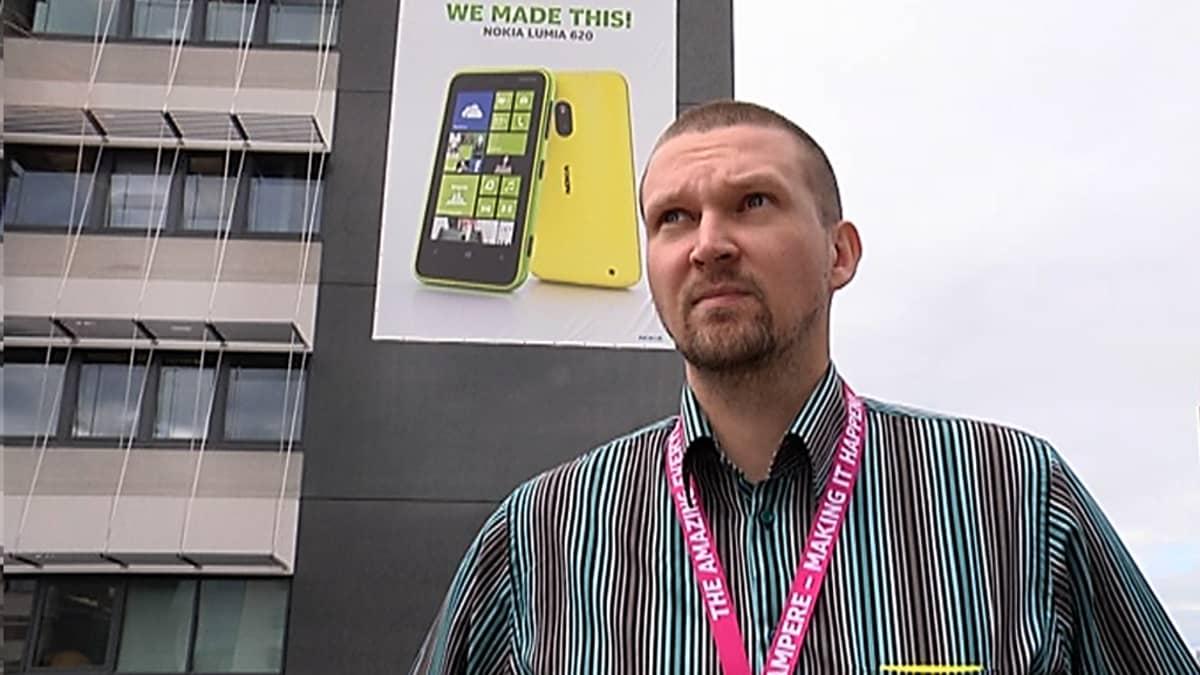 Nokia Tampereen luottamushenkilö Kalle Kiili