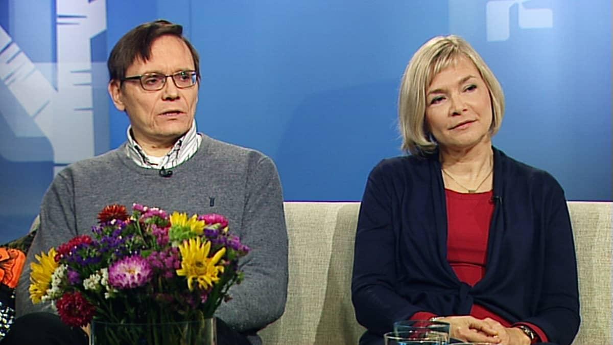Jouni Poukko ja Maija Matikka.