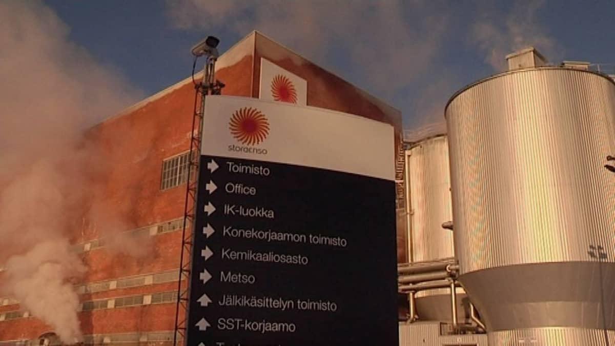 Stora Enson kartonkitehdas Inkeroisissa.