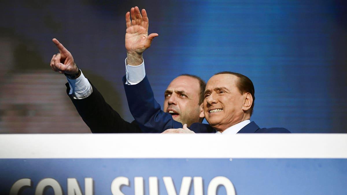 Angelino Alfano ja Silvio Berlusconi