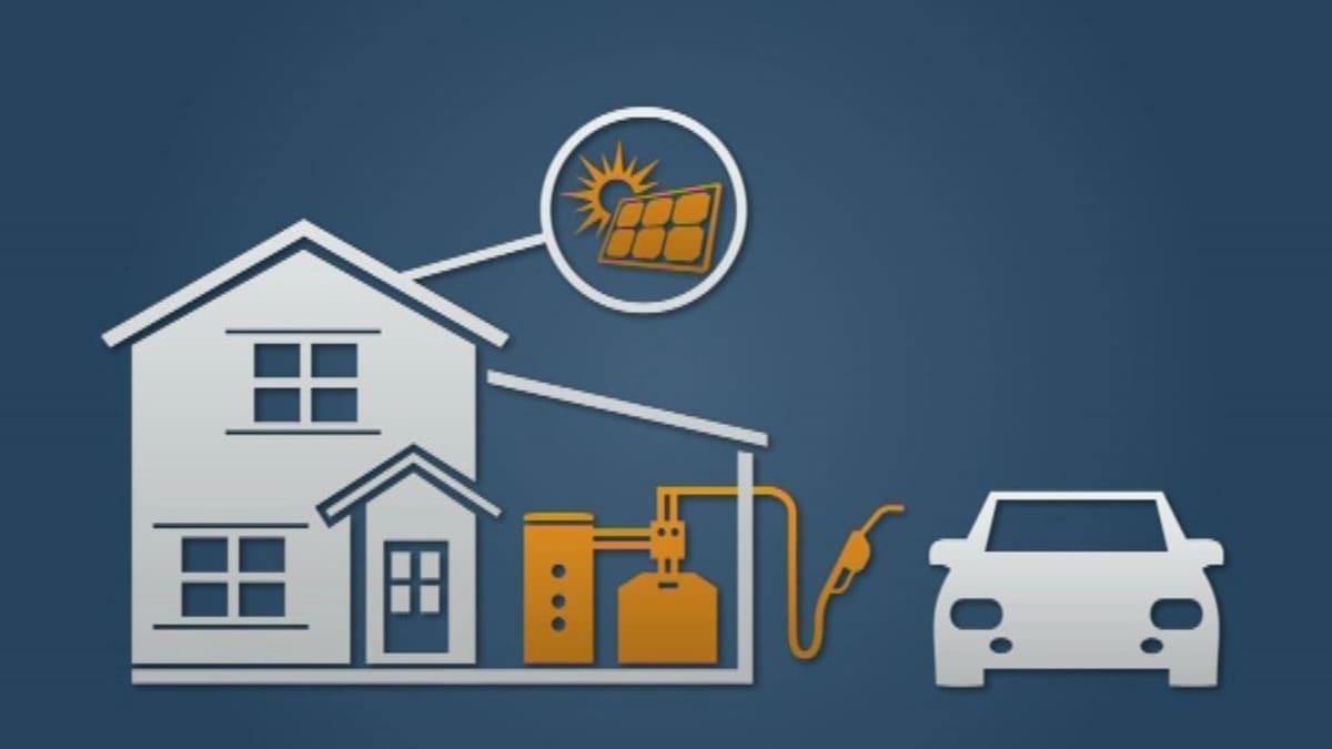 Kannattavinta olisi tehdä polttoaine itse. Aurinkosähkö voidaan varastoida kaasuksi ja tankata auton polttoaineeksi.