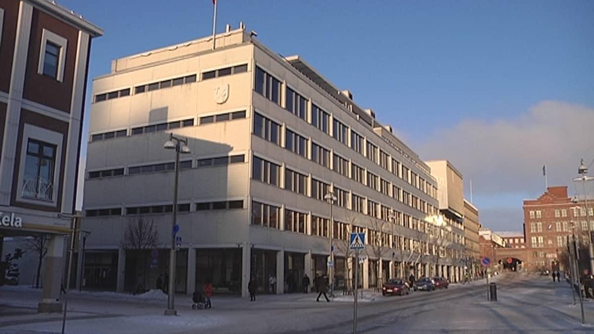 Tampereen kaupungin virastotalo.