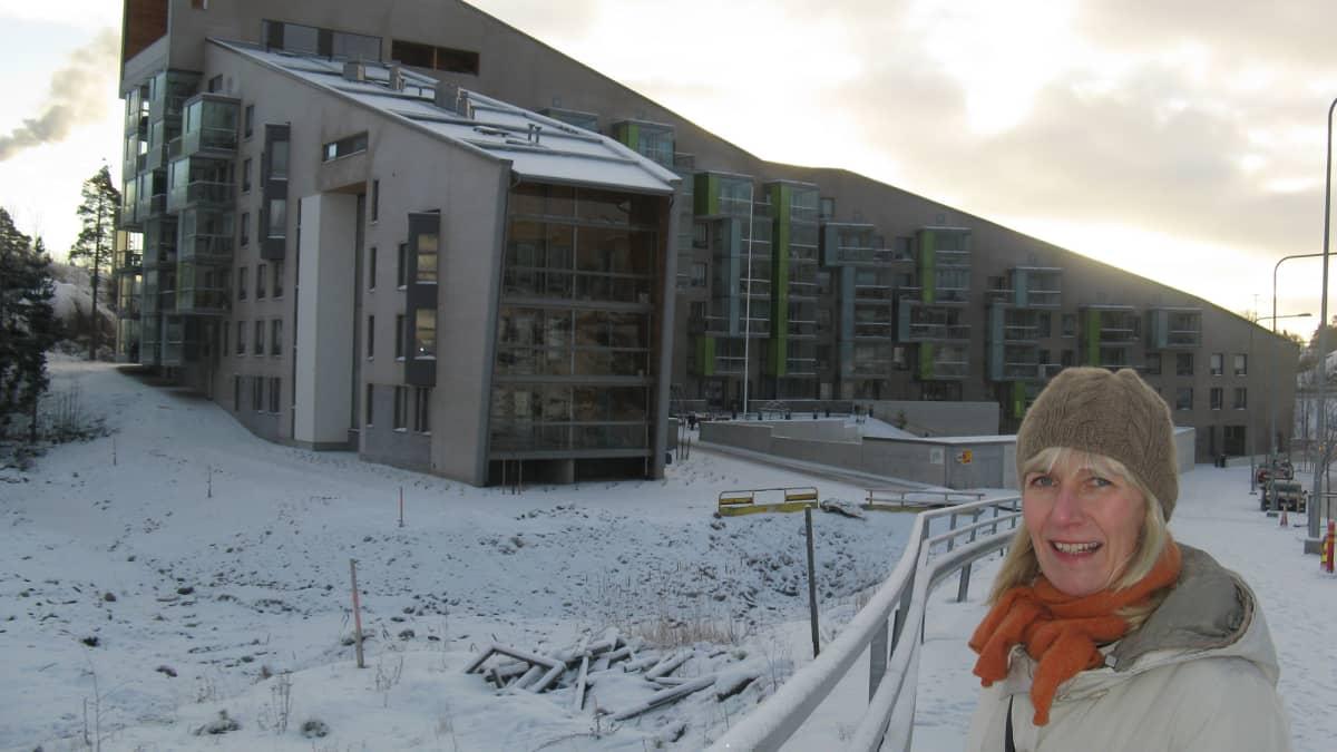 Arkkitehti Kristiina Hannunkari sai Rakentamisen Ruusu -tunnustuspalkinnon tammikuussa 2014.