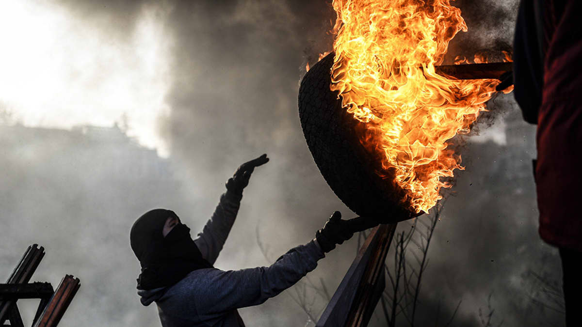 Ukraina mielenosoitukset Kiova.