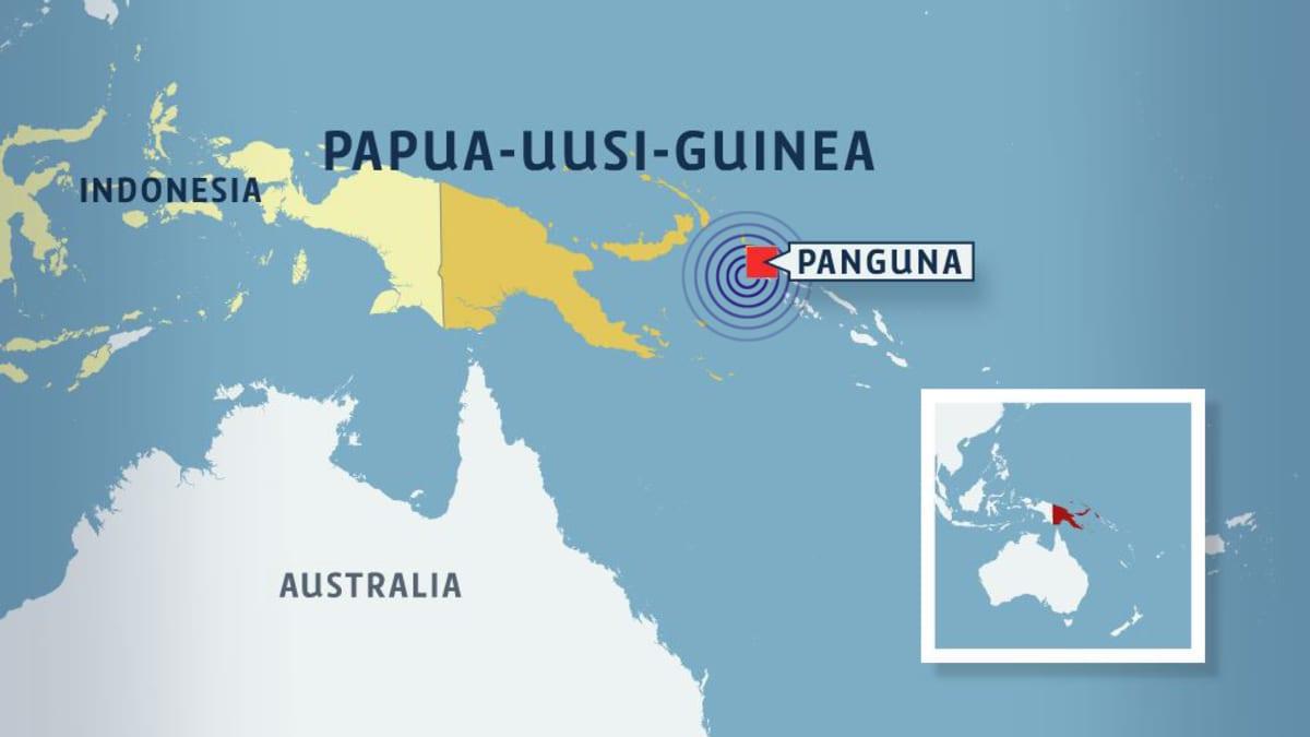 Kartta Papua-Uusi-Guineasta.