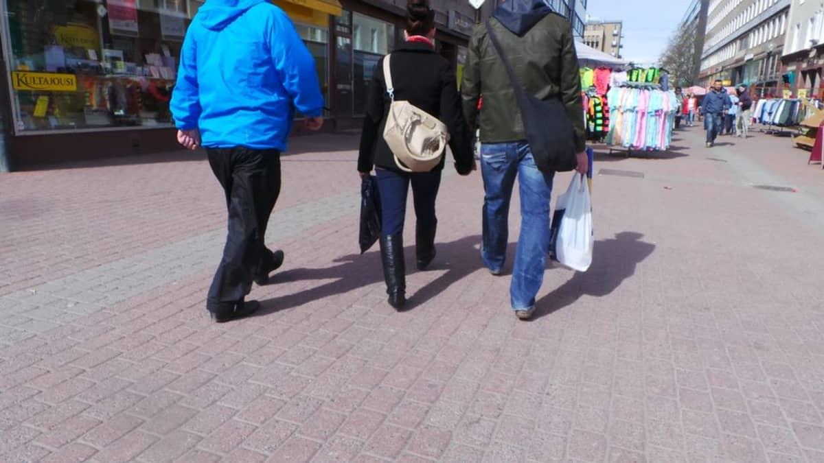 Katukuva, kävelykatu, Pori, kadunkulkijoita, ihmisiä