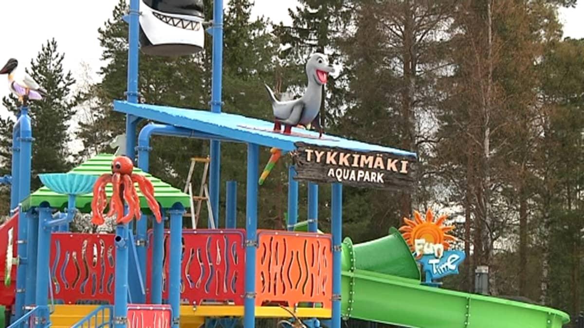 Aquapark on Tykkimäen huvipuiston tämän kesän uutuus