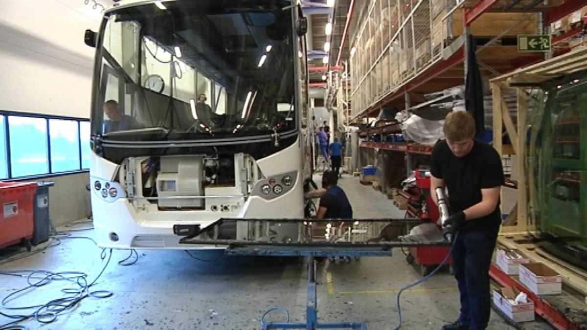 Scania bussikorien valmistus Lahti