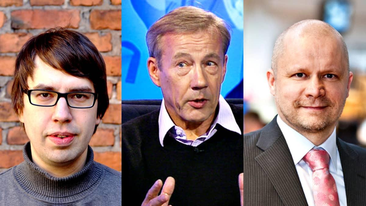Lauri Holappa, Aki Kangasharju ja Sixten Korkman.