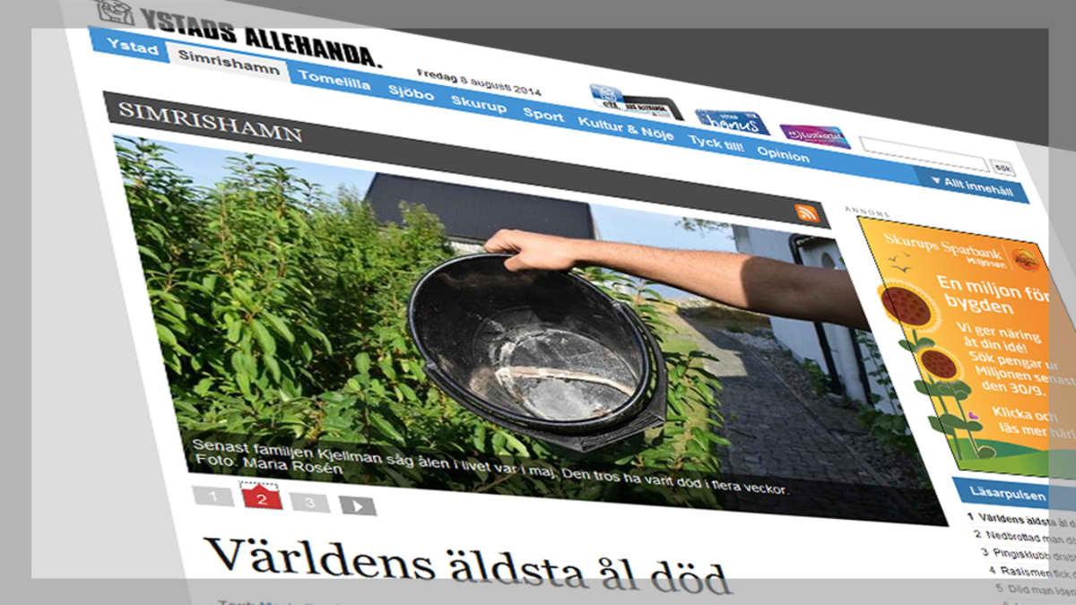 Kuvakaappaus nettisivuilta jutusta, joka käsittelee tapausta.