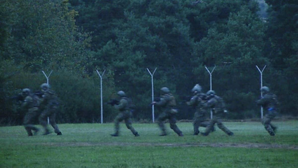 Sotilaita harjoituksissa.