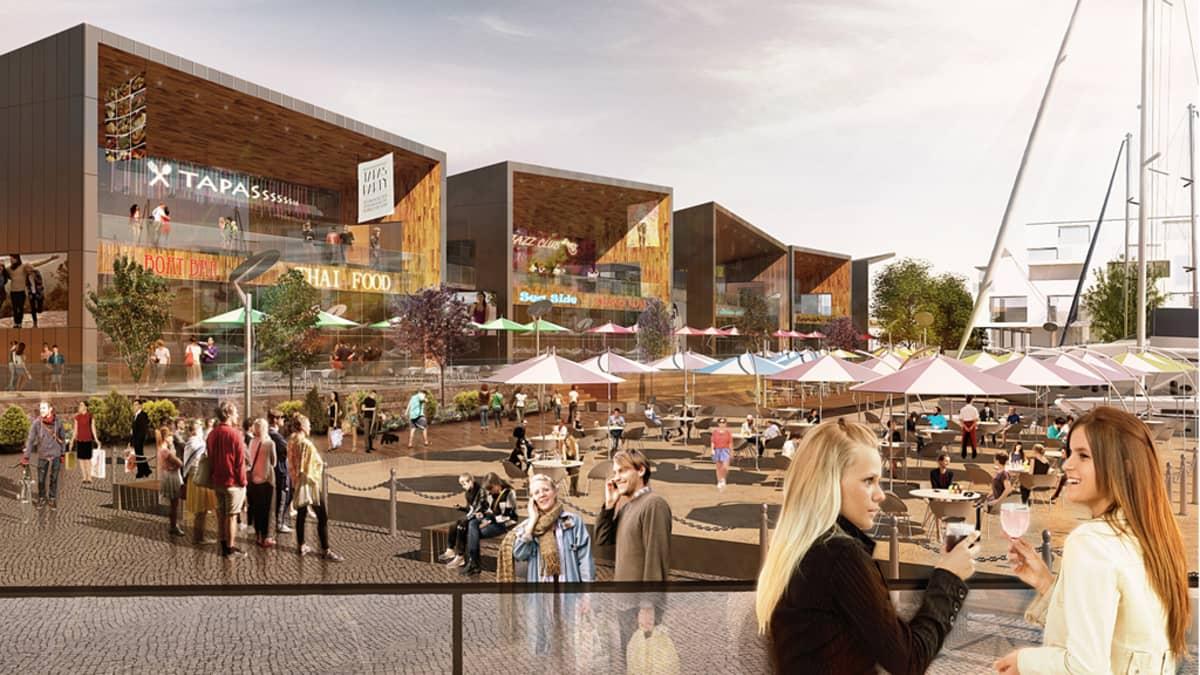 Kotkan Kantasataman alueelle haluttaisiin rakentaa useita uusia ravintoloita