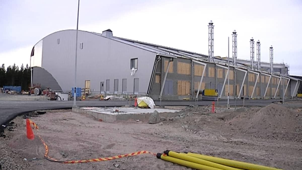 Yandexin datakeskus Mäntsälässä rakennusvaiheessa.