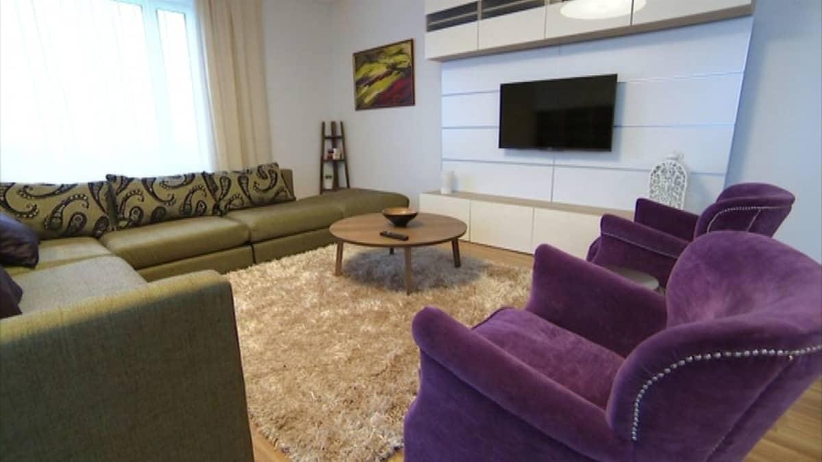 Pietari kerrostalo lähiö vuokra-asunto olohuone Lemminkäinen Sato