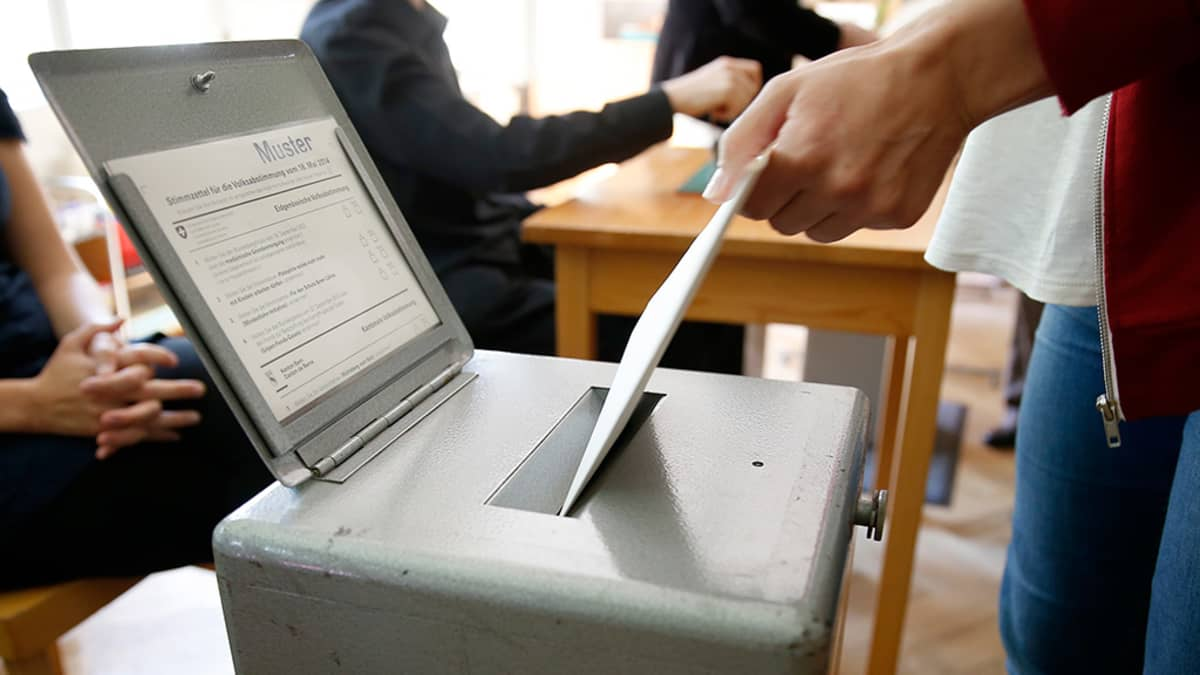 Sveitsi äänestys.