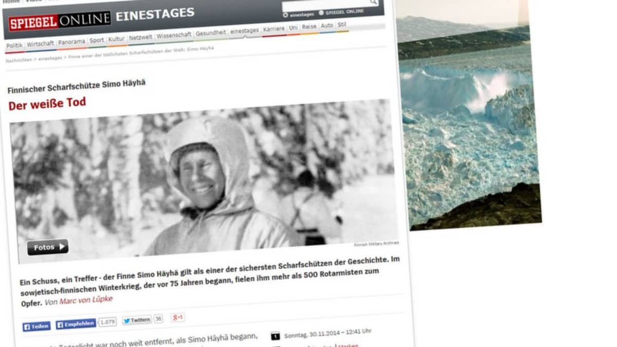 Saksalaislehti Der Spiegel esitteli lukijoilleen talvisodan kuuluisimman tarkka-ampujan vaatimattomana miehenä.
