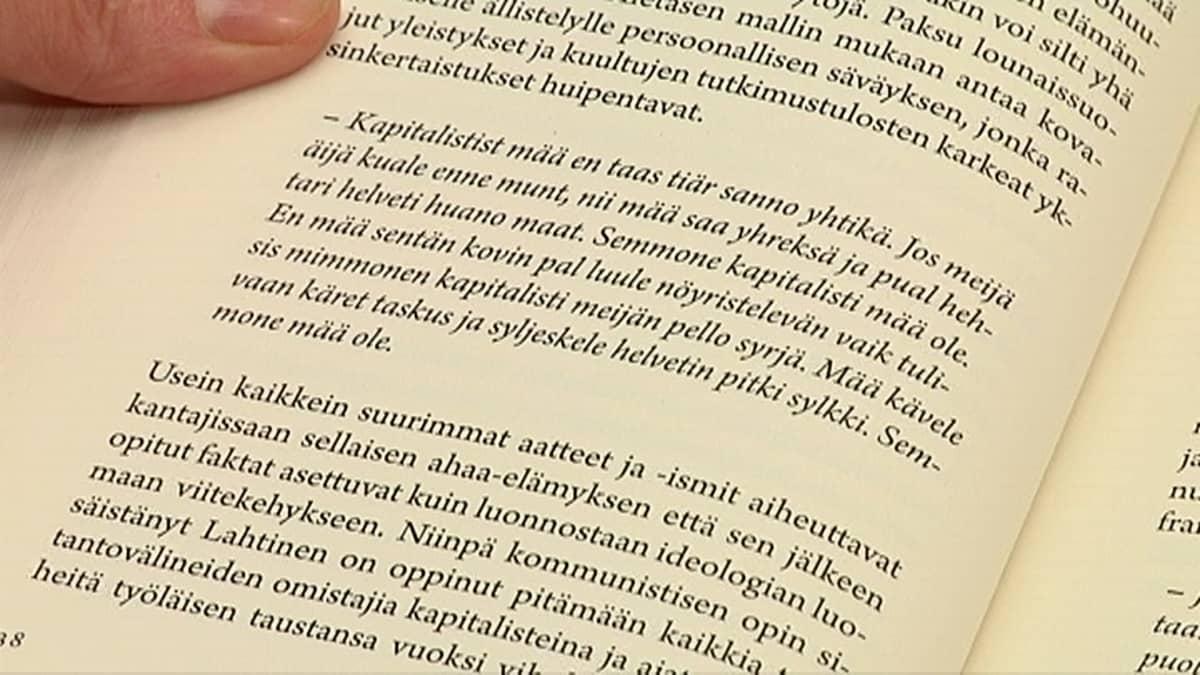 Sitaatti Tuntematon Sotilas -kirjasta Aika velikultia -kirjassa.