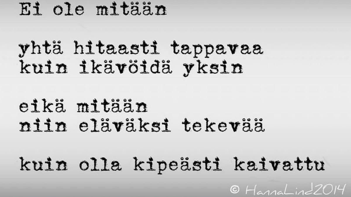 Hanna Lindin runo