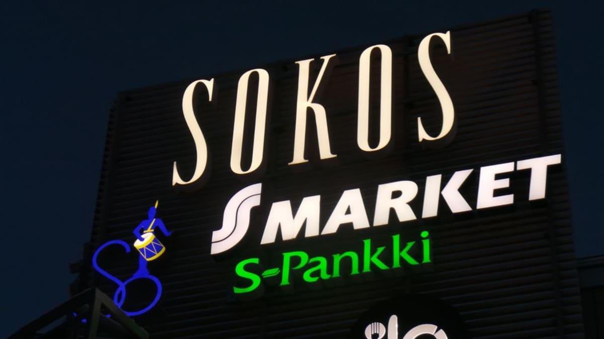 Sokoksen logo Porissa. S-ryhmä, osuuskauppa