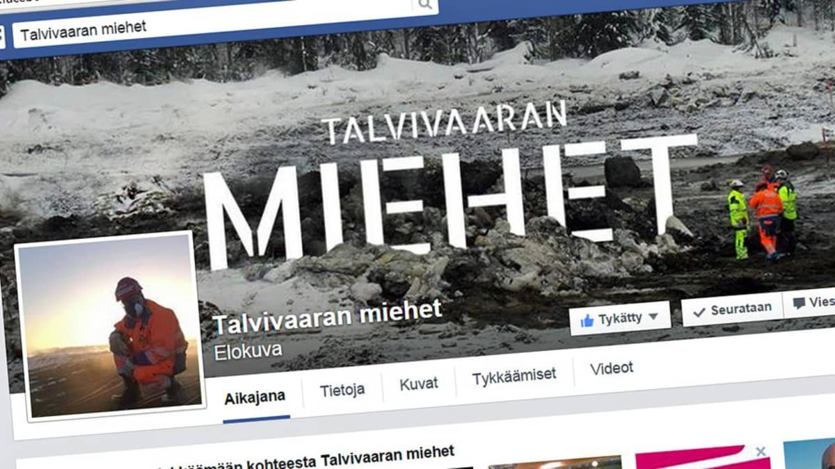 Talvivaaran miehet -elokuvan Facebook-sivut