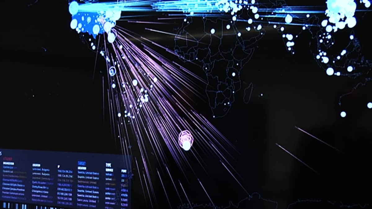 internetistä saatava sovellus näyttää maailmanlaajuisesti kyber hyökkäykset reaaliajassa