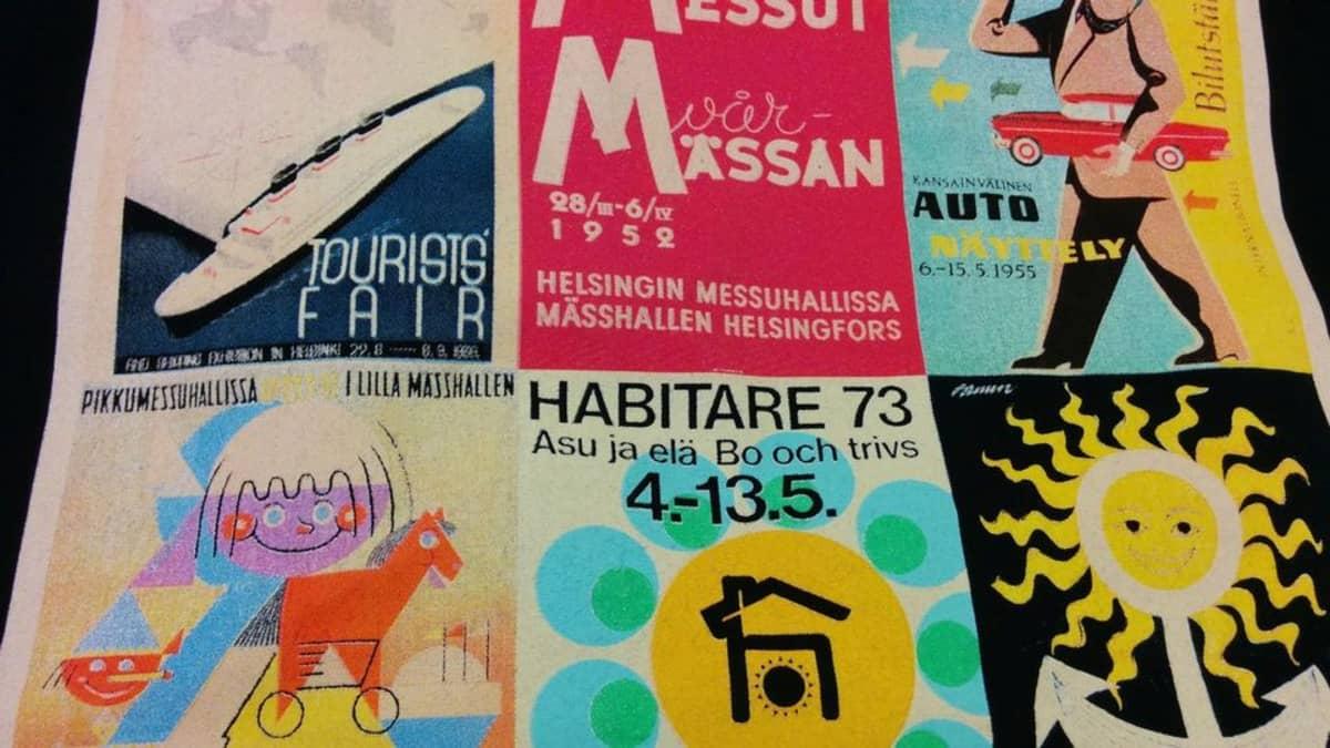 Messukeskus 40 vuotta 2015 Helsinki juhlakassin kuvitus