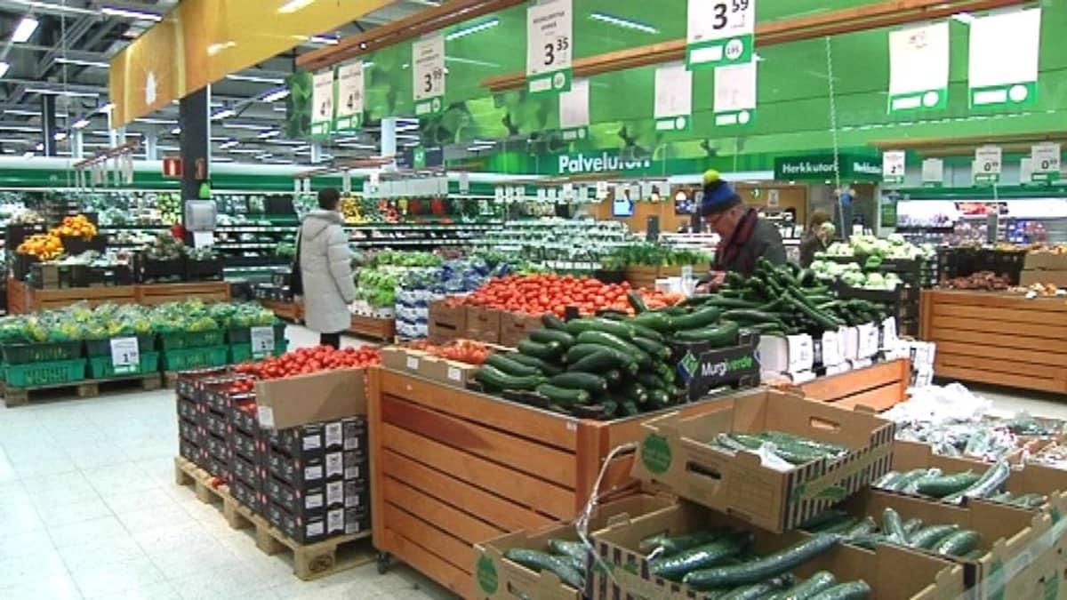 Marketin hedelmä- ja vihannesosasto