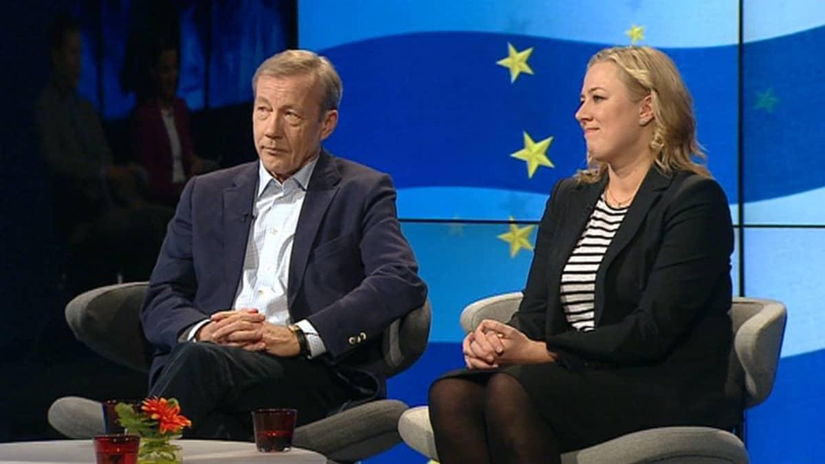 Sixten Korkman ja Jutta Urpilainen.