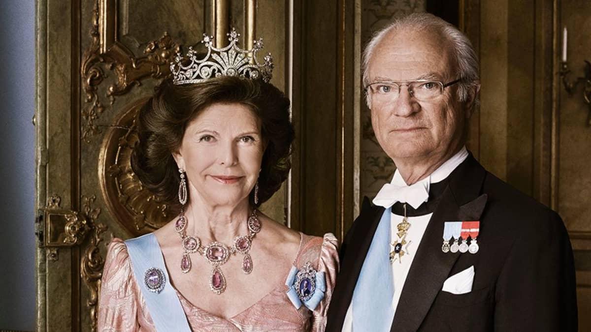 Ruotsin kuningas ja kuningatar.