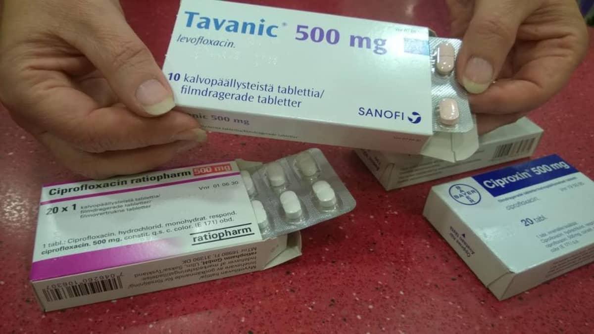 Antibioottipakkauksia