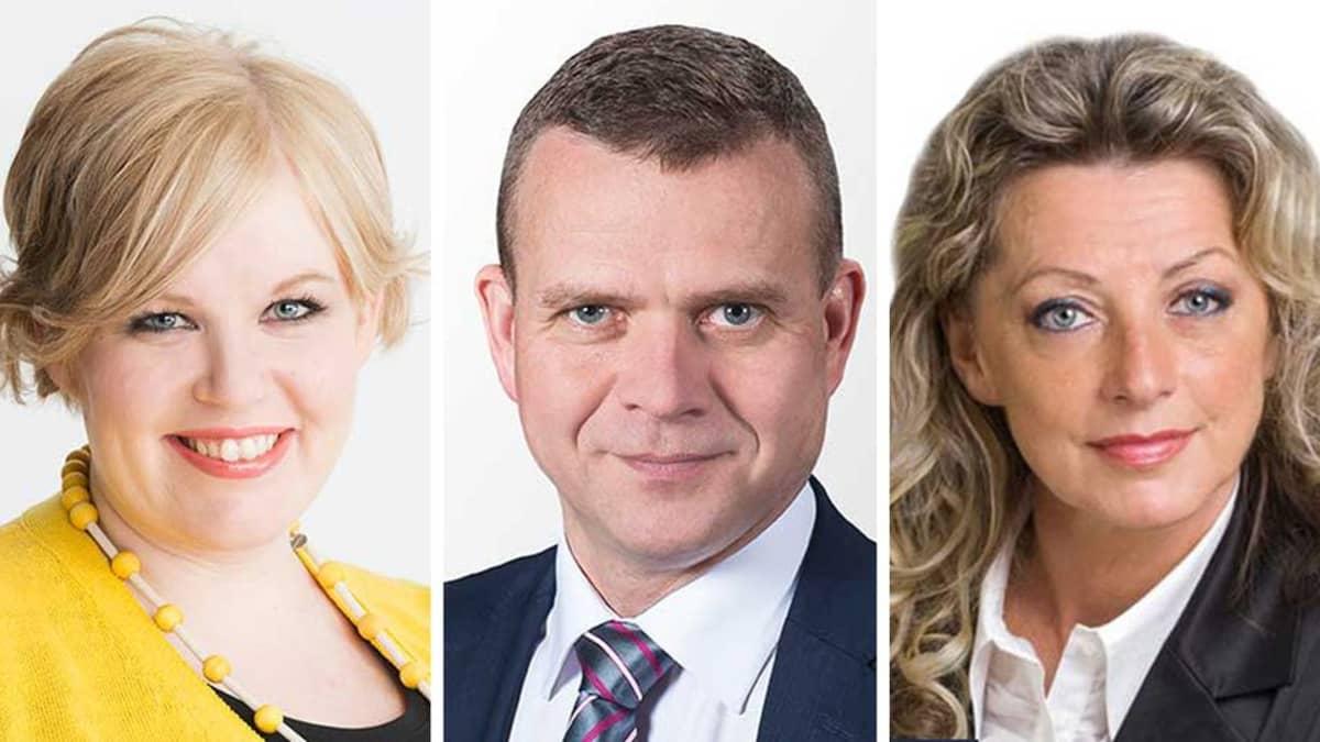 Annika Saarikko, Petteri Orpo ja Ritva Elomaa