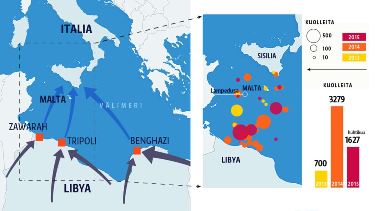 Pakolaiset kartta