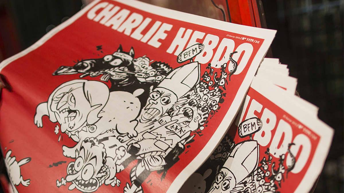 Charlie Hebdo -lehden kansi.