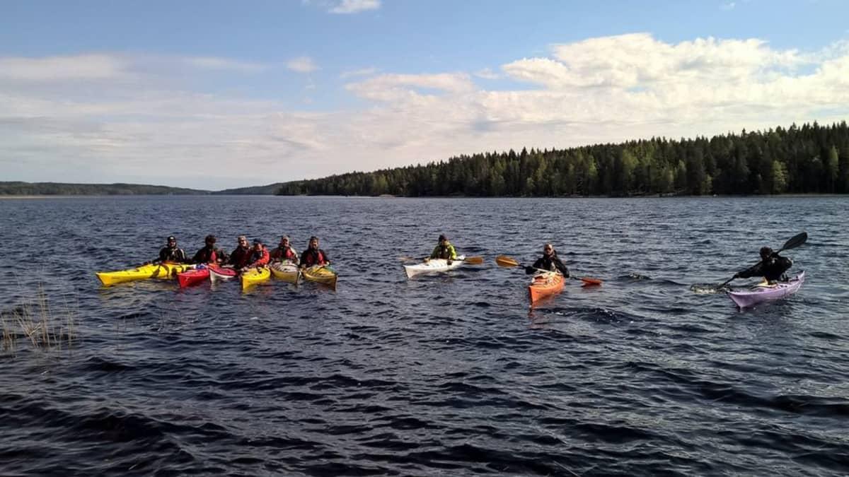 Päijänne-jamboreen melojia Jämsän Edesniemellä.