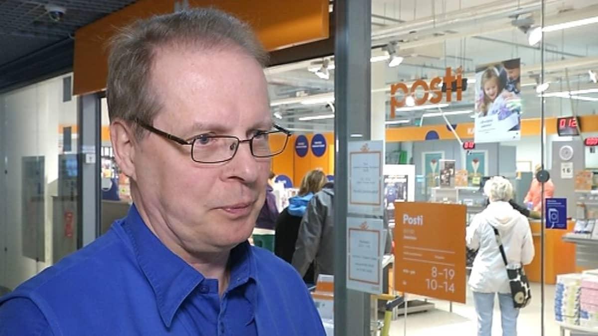 Postin myymälöiden Kaakkois- ja Itä-Suomen alueen varapääluottamusmies Reijo Koponen