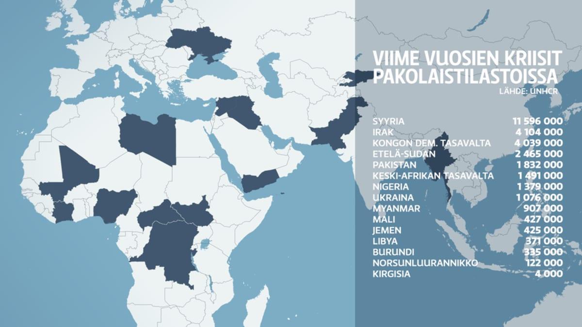 Viime vuosien kriisit tilastoissa -kartta