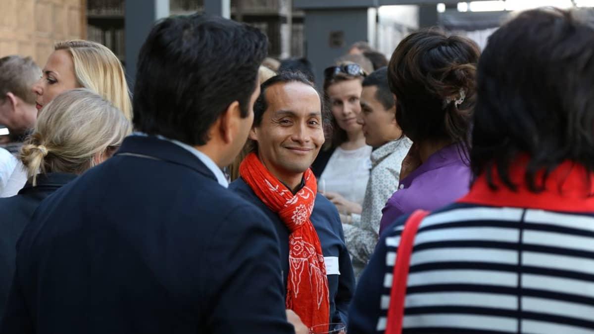 Perulainen Luis Daniel Maldonado Fonken InterNations-verkoston tapaamisessa.