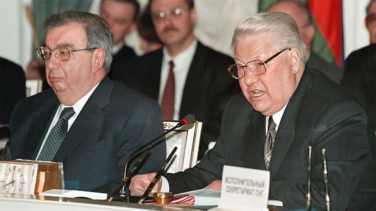 Jevgeni Primakov ja Boris Jeltsin