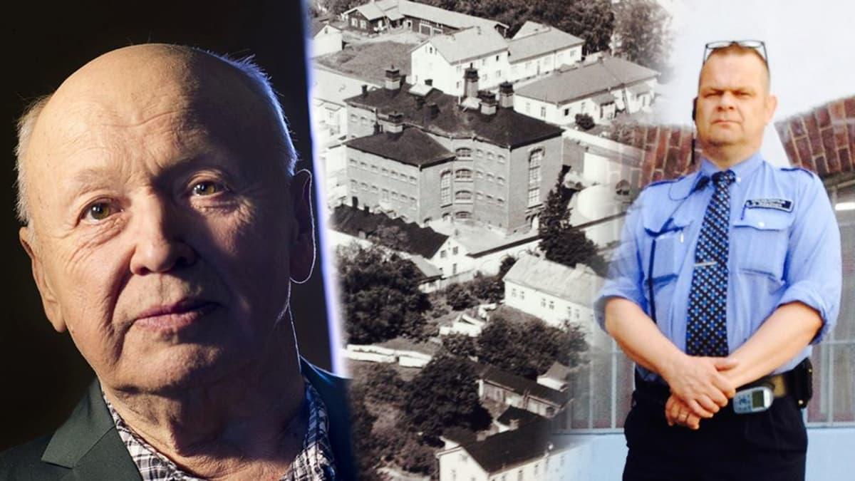 Volvo-Markkasena tunnettu Martin Edholm, Mikkelin vankila 1950-luvun lopulla ja apulaisjohtaja Arto Räsänen.
