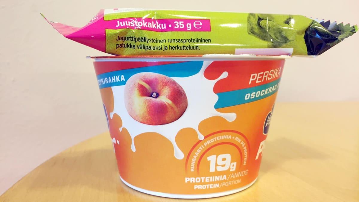 Proteiinituotteita.