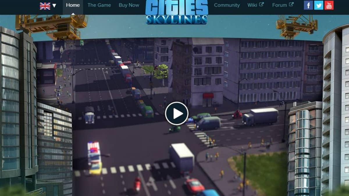 Kuvakaappaus sivustolta http://www.citiesskylines.com/