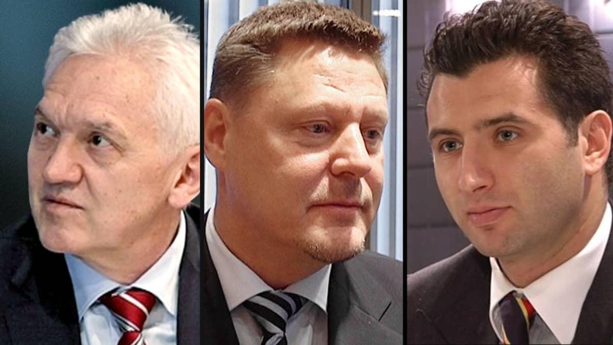 Gennadi Timtšenko, Kai Paananen ja Roman Rotenberg.