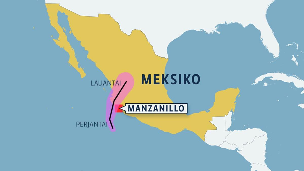 Meksiko kartta.