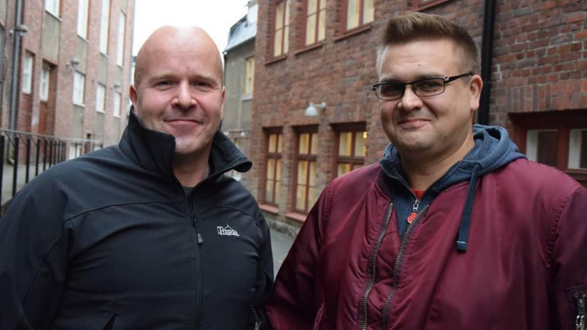 Jukkapekka Tiainen ja Janne Karhiaho