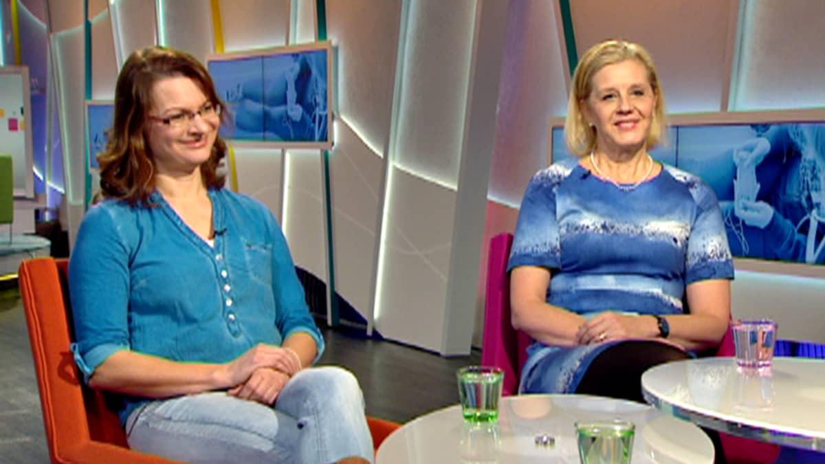 Pirjo Koskinen ja Katariina Salmela-Aro.