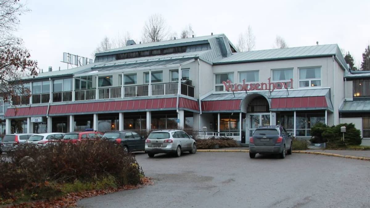 Imatran vastaanottokeskus entisessä hotelli Vuoksenhovissa.