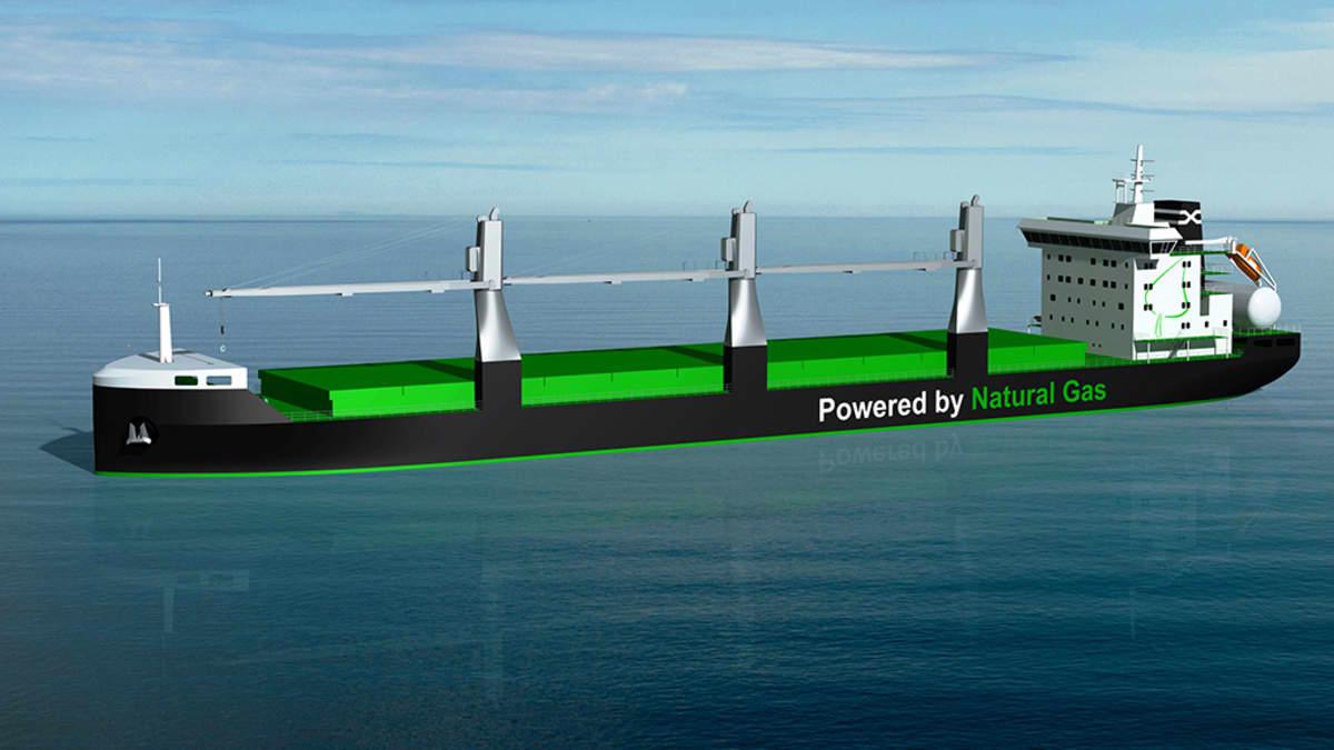 ESL Shippingin uusi LNG-käyttöinen irtolastialus.