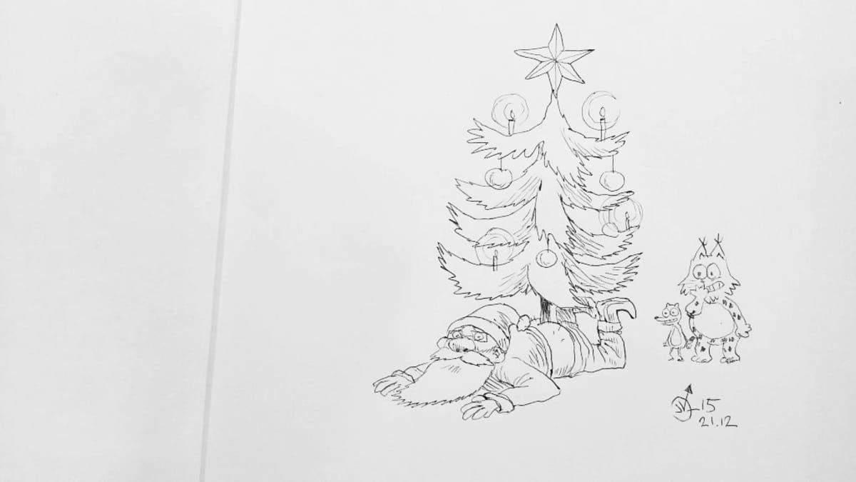 Jarkko Vehniäisen Kamala luonto -joulutervehdys